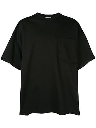Wooyoungmi Camiseta oversized com bolso - Preto