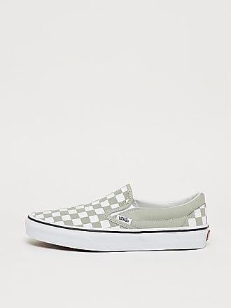 a20a9484f5a09c Vans UA Classic Slip-On checkerboard desert sage true white
