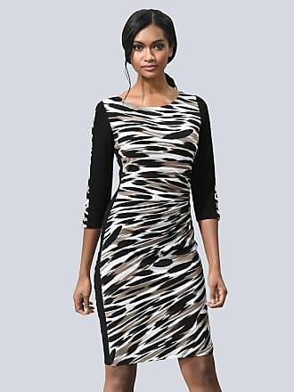 9fa57b8f6a0fe6 Alba Moda Kleid Alba Moda Schwarz Beige Weiß