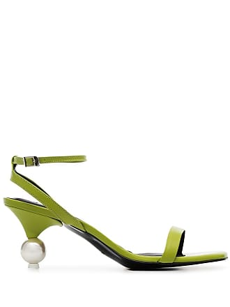 Yuul Yie green vivi 70 leather sandals