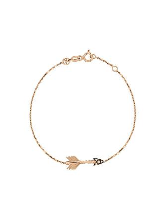 Kismet by Milka Bracelete de ouro rosê 14kt Big Arrow com diamante - Rose Gold