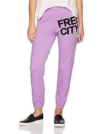 Freecity Womens Featherweight Sweatpant, PinkGum, Large