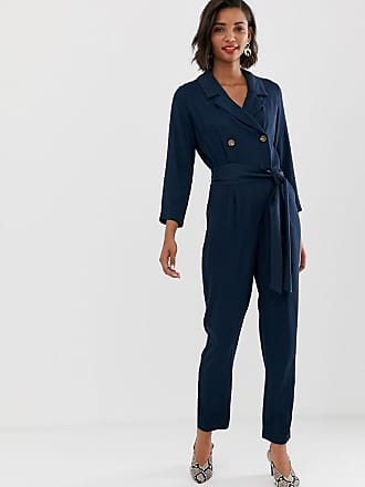 Y.A.S soft tailored tie waist jumpsuit - Black