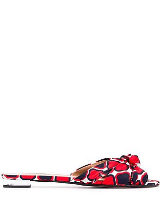 Aquazzura Sandália geométrica - Vermelho