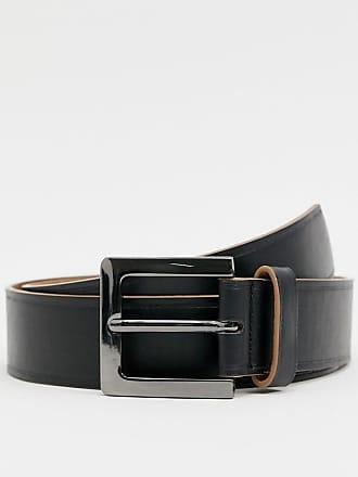 cb6783ee25bf1d Asos Breiter Gürtel aus schwarzem Kunstleder mit kontrastierendem Rand -  Schwarz