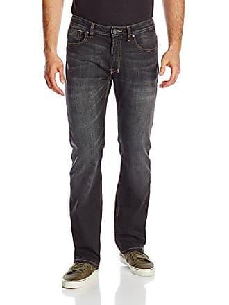 Buffalo David Bitton Mens Driven Straight Leg Jean In Saker Denim, Lightly Sanded, 40x34