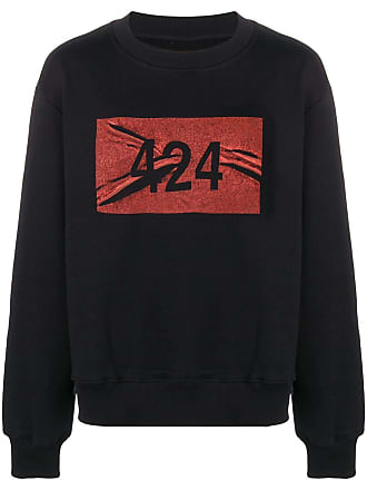 424 logo print sweatshirt - Preto