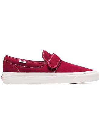 Vans burgundy 47 slip on suede sneakers - Red