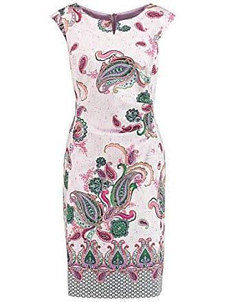 8b5f2664d2e62 Gerry Weber Damen Kleid Mit Paisleymuster Figurumspielend Lila/Pink/Grün  Druck 48