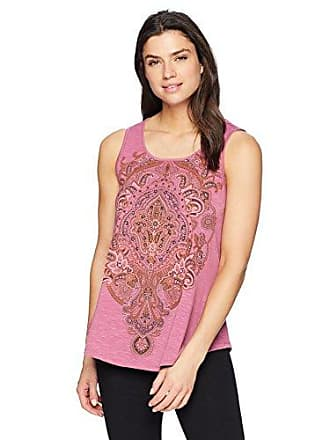 ff58cca99e Oneworld Womens Sleeveless Scoopneck Embellished Tank Top