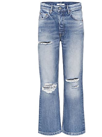 GRLFRND Linda cropped high-waisted jeans