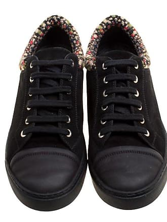 45a4f5c2ba6 Chanel Black multicolor Leather And Tweed Sneakers Size 40.5