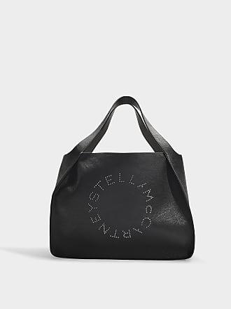 7c8791d9e9e4 Stella McCartney Small Stella Logo Tote Bag in Black Synthetic Material