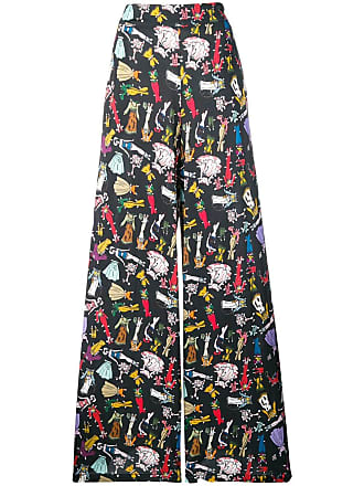Ultra Chic Cowgirl printed trousers - Black