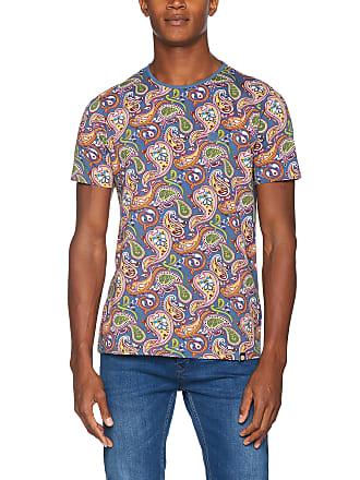 93729ce3cfb5c Pretty Green Mens Mens Paisley Print T-Shirt Slim Fit Paisley Crew Neck  Short Sleeve