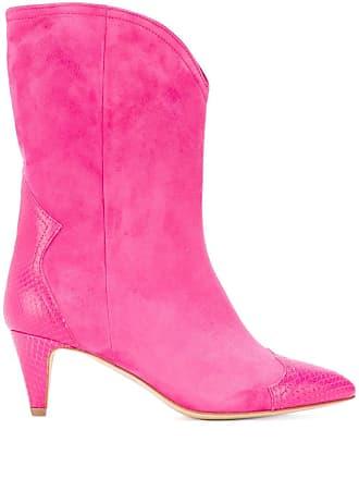The Seller snake embossed detailed boots - Rosa