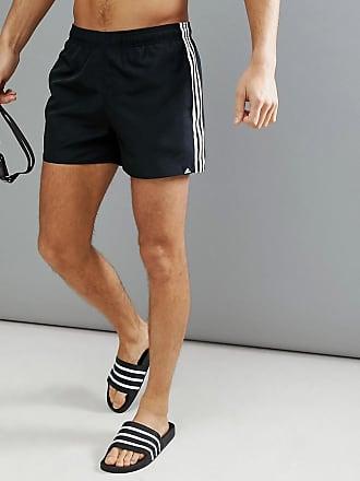 9928db2583 adidas swim shorts with stripes in black cv5137 - Black