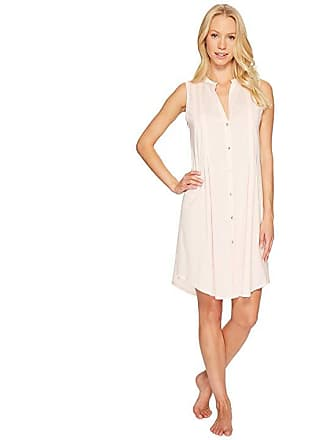 5b7c8fe1c7 Hanro Cotton Deluxe Button Front Tank Nightgown (Tender Rose) Womens Pajama
