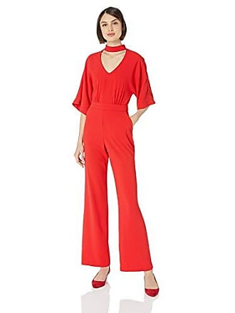 Trina Turk Womens Ambient Choker Neck Jumpsuit, Lacquer red, 2