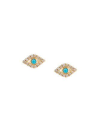 2a244135a Sydney Evan 14kt yellow gold large evil eye diamond stud earrings - Metallic