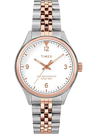 Timex Watch Womens Waterbury Traditional 34MM Stainless Steel Bracelet cream Item Tw2T49200Vq