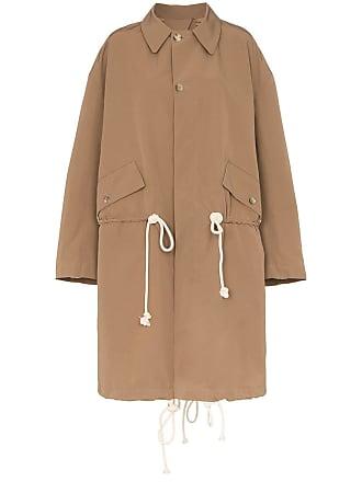 Plan C Trench coat com cordão de ajuste - Marrom