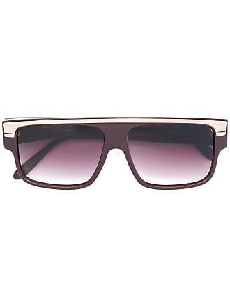 Emmanuelle Khanh cat eye frame sunglasses - Marrom
