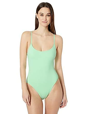 15e0090954 Anne Cole Studio Womens Vintage Lingerie Maillot One Piece Basic Swimsuit,  New Green, 10