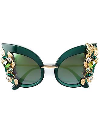 2166f413c5786 Dolce   Gabbana Eyewear Óculos de sol com cristais Swarovski - Green