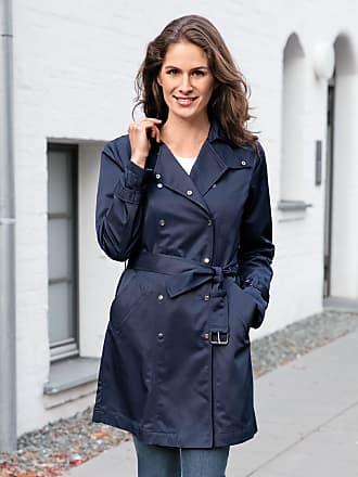 Avena Damen Trenchcoat Wind & Wetter Blau einfarbig Gr. 38, 40, 42, 44, 46, 48, 50, 52