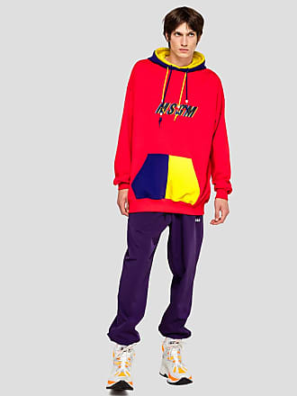 Msgm colorblock sweatshirt msgm print