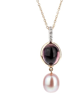 MIMI MILANO Amethyst Pearl Diamond Necklace
