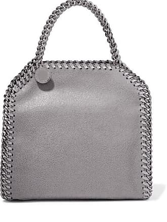 Stella McCartney The Falabella Tiny Faux Brushed-leather Shoulder Bag -  Light gray 472a9f18efc0e