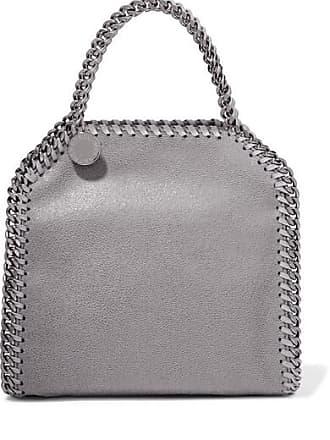 Stella McCartney The Falabella Tiny Faux Brushed-leather Shoulder Bag -  Light gray 068f8bc47b7e5
