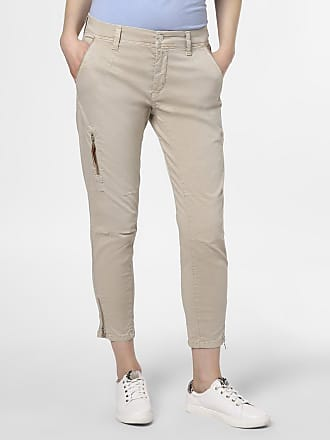 MAC Damen Hose - Rich cargo cotton beige