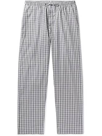 Zimmerli Checked Cotton Pyjama Trousers - Gray