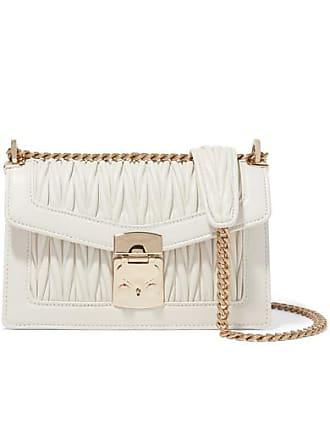 ce5adcf1e1c Miu Miu Confidential Matelassé Leather Shoulder Bag - White
