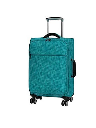 IT Luggage 21.5 Stitched Squares Lightweight Case, Aqua Blue