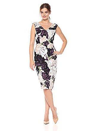 38a6698c Ivanka Trump Womens Scuba Crepe Compression Dress, Gemstone Floral  Amethyst, 14