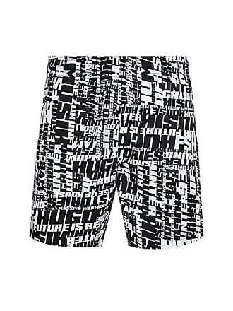 a17f3a01a5 HUGO BOSS Slogan-print swim shorts in quick-drying fabric
