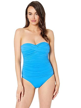 6d10f36d884 Delivery: free. La Blanca Island Goddess Bandeau One-Piece (Chambray)  Womens Swimsuits One Piece