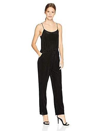 Only Hearts Womens Velvet Rib Jumpsuit, Black, Large