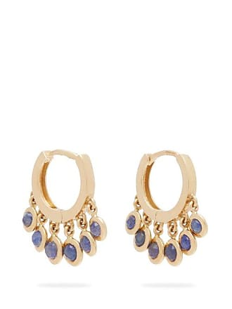 70ce9d2d0 Jacquie Aiche Shaker 14kt Gold Mini Hoop Earrings - Womens - Blue