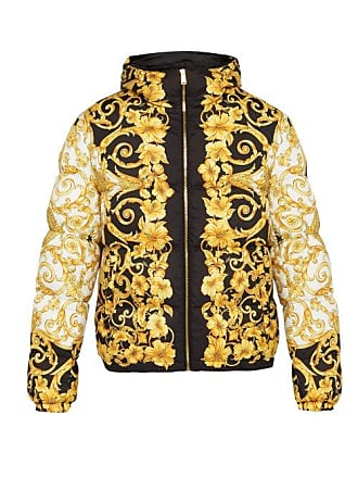 Versace Baroque Print Hooded Jacket - Mens - Gold Multi