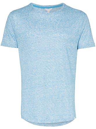 Orlebar Brown Camiseta de linho - Azul