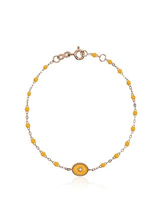 Gigi Clozeau Pulseira RG de ouro rosê com diamante - Amarelo