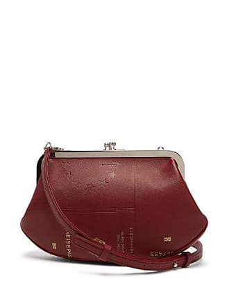 9f6b5ecb11 VETEMENTS Granny Passport Print Saffiano Leather Bag - Womens - Burgundy