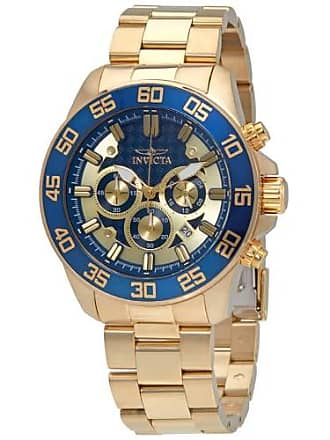 Invicta Pro Diver Gold Dial Mens Chronograph Watch 24727