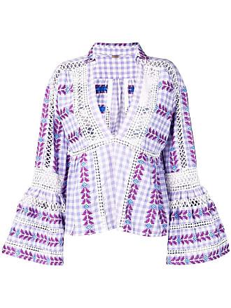 Dodo Bar Or Blusa bordada xadrez - Roxo