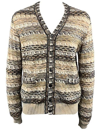 602e3528cc4f23 Missoni Size M Beige Melange Wool   Mohair   Cashmere Buttoned Cardigan